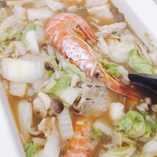 魚介の旨味たっぷり★魚介鍋