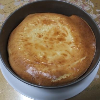 初めてケーキ作りに挑戦した娘でもあっという間に出来てとっても美味しかったです! 家族で美味しくいただけました♪