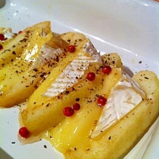ワインにピッタリ!☆洋梨のカマンベールチーズ焼き♪