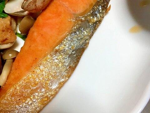時短!!フライパンでバター鮭