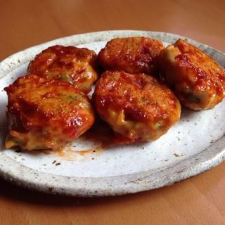 鶏つくねのケチャップ照り焼き♪
