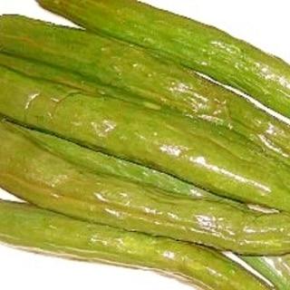 緑色☆塩蔵キュウリの塩出し