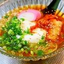 豆腐ぶっかけ素麺*冷麺風