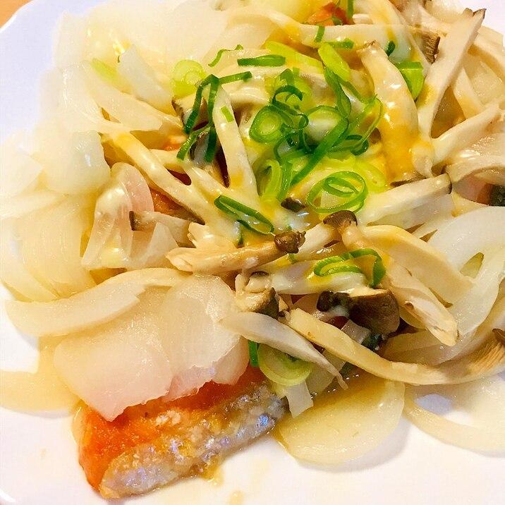 鮭切り身●ちゃんちゃん焼き風チーズ&キャベツ蒸し焼