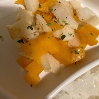 離乳食後期〜☆長芋とかぼちゃのバター醤油ソテー