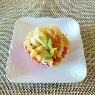 お弁当に!キャベツとちくわの柚子胡椒炒め