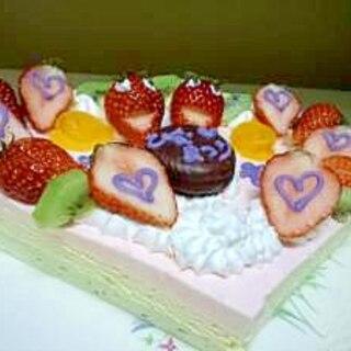 おひなまつりにひしもちケーキ