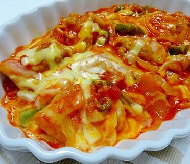 鶏肉のトマトチーズ煮