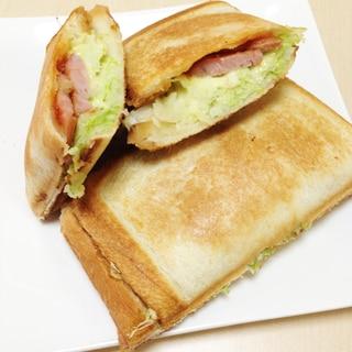 ホットサンド〜ウインナー・キャベツ・チーズ〜