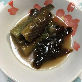 茄子と生わかめの煮物(*^^*)☆