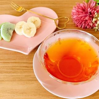 幸せ♡紅茶と好きなフルーツ❝᷀ົཽ≀ˍ̮❝᷀ົཽ