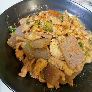 味付けは味噌だけ☆豚肉とこんにゃくの味噌炒め