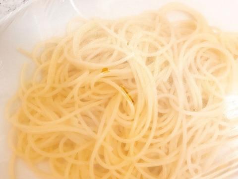 茹でたスパゲッティの保存方法
