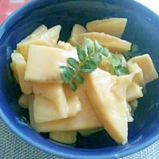 筍の、からし酢味噌和え