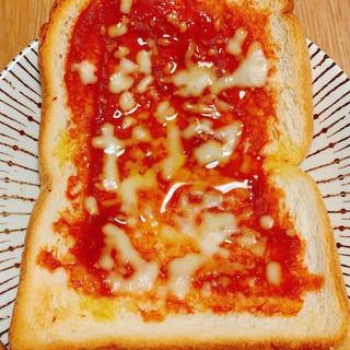 アレンジ食パン☆シンプル簡単本格ピザトースト