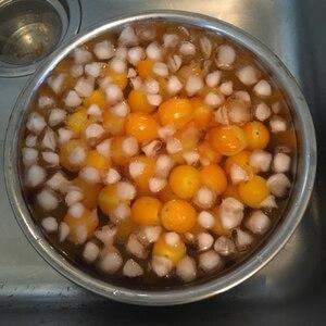 簡単ミニトマトの湯むき