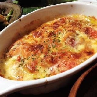 オーブンにお任せ!超簡単☆トマトチーズ焼き