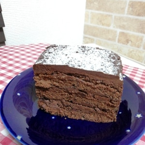 ホットケーキミックスで簡単濃厚♡生チョコケーキ