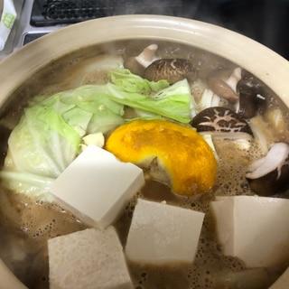 柚香る胡麻味噌鍋