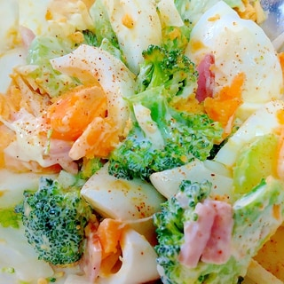 ブロッコリーと茹で卵のデリ風サラダ♪