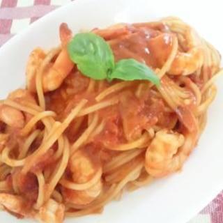 エビのトマトクリームスパゲティ
