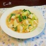 チンゲン菜とベーコンの中華煮