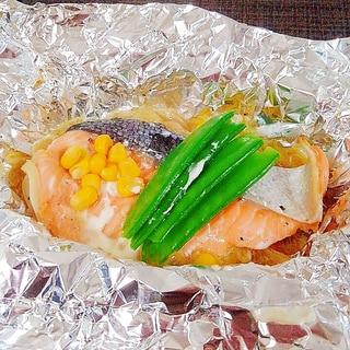焼くだけ簡単夕飯!バター香る、鮭のホイル焼き♪