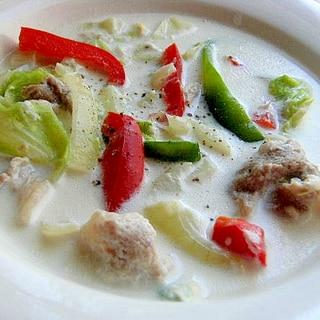 小麦粉なし❤もち豚&キャベツのミルク煮♪(チーズ)