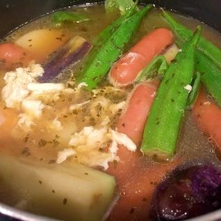 簡単!素揚げ野菜スープカレー!