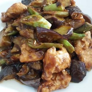甘酢あんかけ風☆鶏むね肉となすオクラの揚げもの