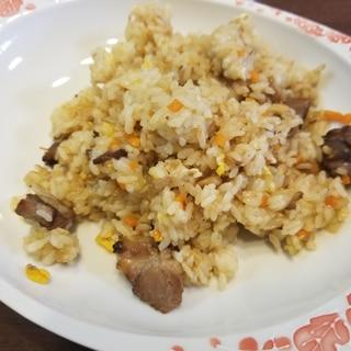 業務スーパーの豚の角煮チャーハン