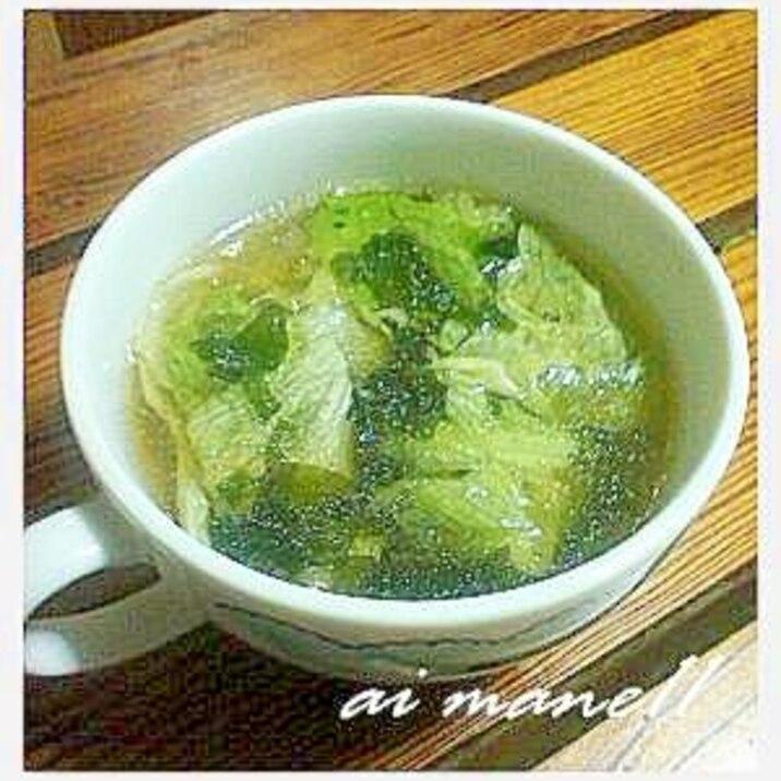 あっさりレタススープ