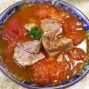 茹で豚トマトのバルサミコ焼き