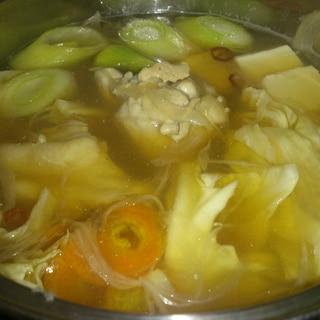 野菜たっぷり鶏鍋