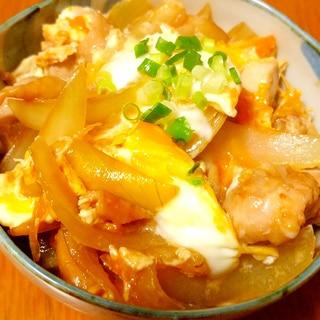 うどんスープの素で♪簡単親子丼☆