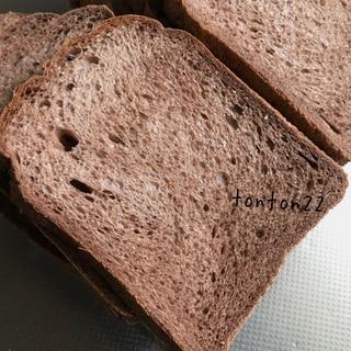 ホームベーカリーで上新粉湯種のココア食パン