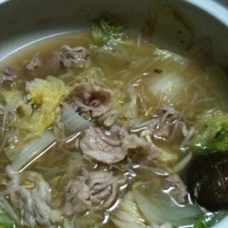 コンソメスープで作る白菜鍋