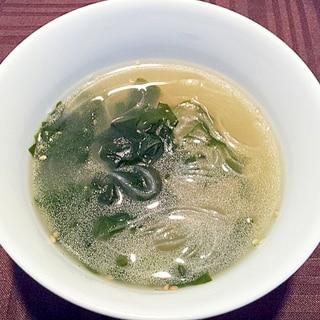 牛肉ダシダのわかめ&春雨のスープ