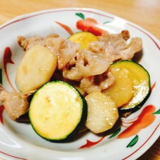 豚肉と長芋とズッキーニの炒め物