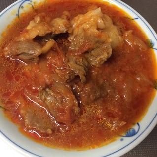 牛スジ肉の圧力鍋煮(赤ワイン+赤味噌+蜂蜜)
