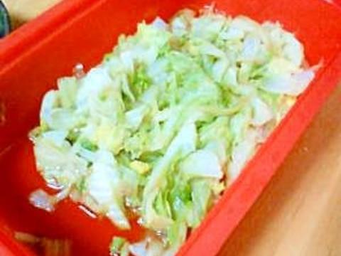 スチーマーで簡単!めんつゆで白菜の和え物!