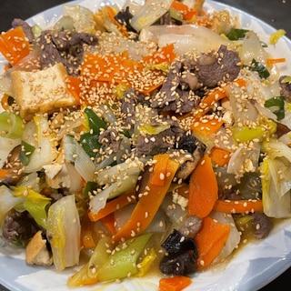 野菜たっぷり‼牛肉XO醤炒め