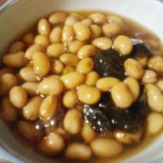圧力鍋で大豆の煮豆