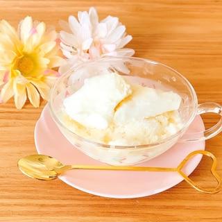 簡単♫*豆乳でふわっふわ瞬溶け♡粉雪アイス
