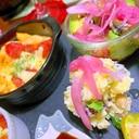 紫玉ねぎとサラダ豆のカワ(・∀・)イイ!!ポテサラ