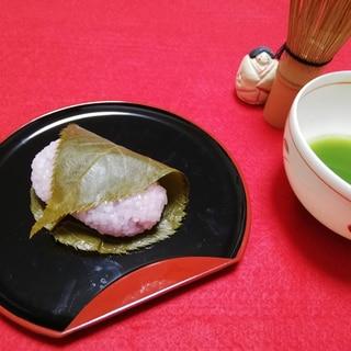 簡単な桜餅(道明寺粉)