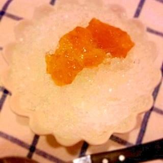 さっぱり梅シロップのかき氷