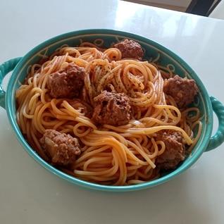 わんわん物語のミートボールスパゲティ
