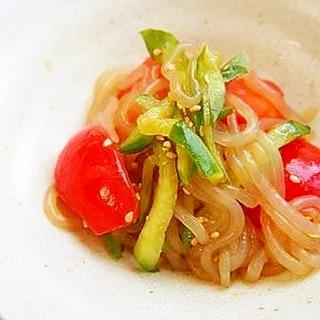 糸こんにゃく・胡瓜・トマトの中華サラダ♪