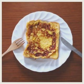 【おやつ・朝食に】硬くなったパンでフレンチトースト